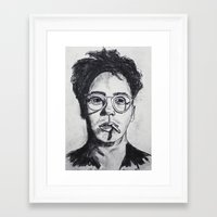 robert downey jr Framed Art Prints featuring Robert Downey Jr. by Haley Erin