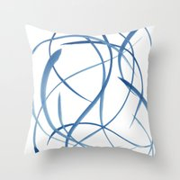 koi fish Throw Pillows featuring Koi Fish by Dena Carter
