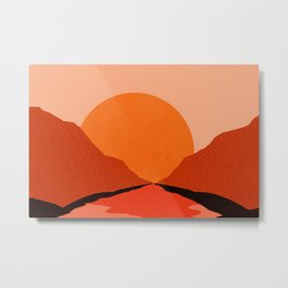Abstraction_Sunset_Mountains_001 Metal Print