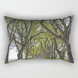 A Drive through the Dark Hedges Rectangular Pillow