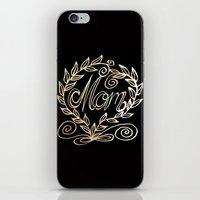 mom iPhone & iPod Skins featuring Mom by ArtLovePassion