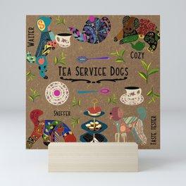 Tea Service Dogs sampler Mini Art Print