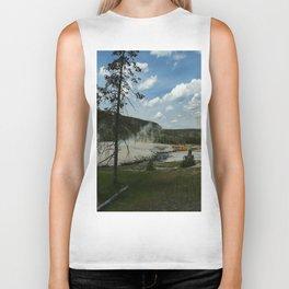 Firehole River And Geyser Area Biker Tank