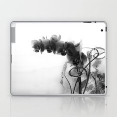 Flowers in black Laptop & iPad Skin