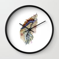 nudes Wall Clocks featuring Two Nudes by Dawson Illustrations