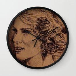 SCARLETT JOHANSON Wall Clock