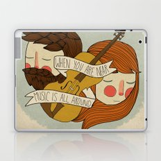 Music Is All Around Laptop & iPad Skin