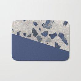 Terrazzo Texture Dark Blue #2 Bath Mat