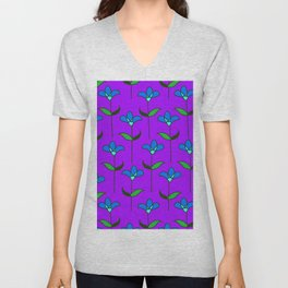 Genevieve - Purple and Blue Unisex V-Neck