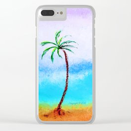 """""""Ghost Tree, #13"""" Painting Clear iPhone Case"""