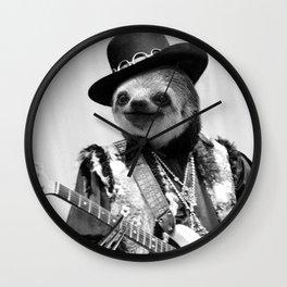 Rockstar Sloth #2 Wall Clock