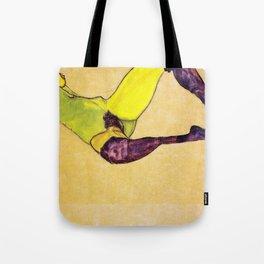 Egon Schiele - Reclining nude (new color edit) Tote Bag