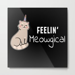 Caticorn Meowgical Metal Print