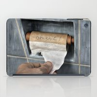 toilet iPad Cases featuring the last thought by teddynash