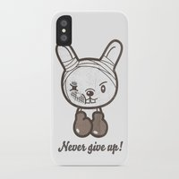 boxing iPhone & iPod Cases featuring Boxing Bunny by pencilplus
