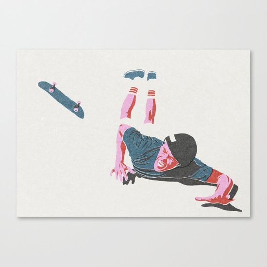 skateboarding 3 (lost time, risograph) Canvas Print