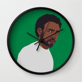 CHILDISH GAMBINO | green Wall Clock