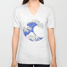 Great Blue Wave Unisex V-Neck