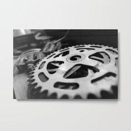 Bike Crank Metal Print
