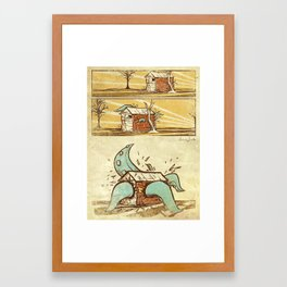 Attack of the Tentacles Framed Art Print