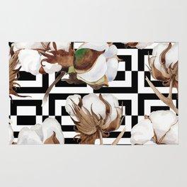 Cotton Flower Pattern 09 Rug