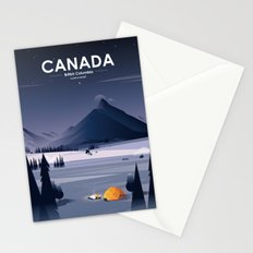 Alone In Nature - Winter Night Stationery Cards