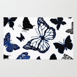 Butterfly ink Rug