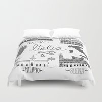 italian Duvet Covers featuring Italian Landmarks by Stacey Walker Oldham