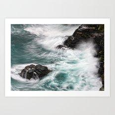 Atlantic Coast, Cornwall UK Art Print
