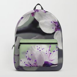 Modern blossom white violet green ombre floral Backpack
