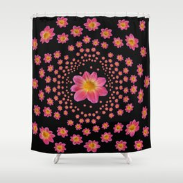 Pink Dahlia Explosion Shower Curtain