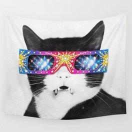 Laser Cat Wall Tapestry