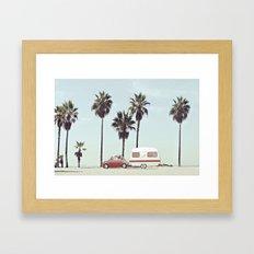 NEVER STOP EXPLORING - CAMPING PALM BEACH Framed Art Print