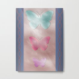 Three Tier Butterfly With Colors Metal Print