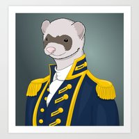 Captain Ferret Art Print