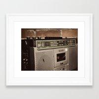 radio Framed Art Prints featuring Radio by Lina Krueck