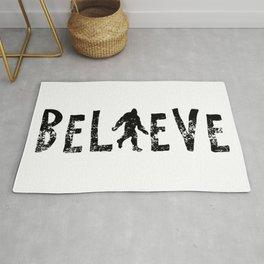 I Believe Yeti Bigfoot Sasquatch Rug