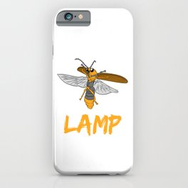 "Perfect Gift For Insects Fans Saying ""I Love Lamp"" T-shirt Design Firefly Bee Stripe Black Yellow  iPhone Case"
