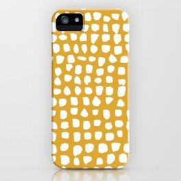 Dots / Mustard iPhone Case