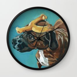 Sassy Dog Pet Portrait Wall Clock
