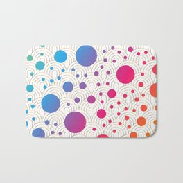Abstract colorful background with cirlces Bath Mat