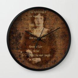 Emily Dickinson 4 Wall Clock