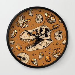 Geo-rex Vortex | Citrine Quartz Wall Clock