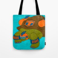tortoise Tote Bags featuring Tortoise by subpatch