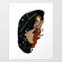 Dana Scully Pin-up Art Print