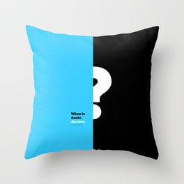 Lab No. 4 -When in doubt disclose N.r. Narayana Murthy Inspirational Corporate Startup Quotes Poster Throw Pillow