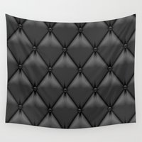 leather Wall Tapestries featuring black leather by Cardinal Design