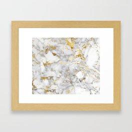 Gold Mine Marble Framed Art Print