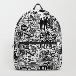 Black and White 50's pattern Backpack