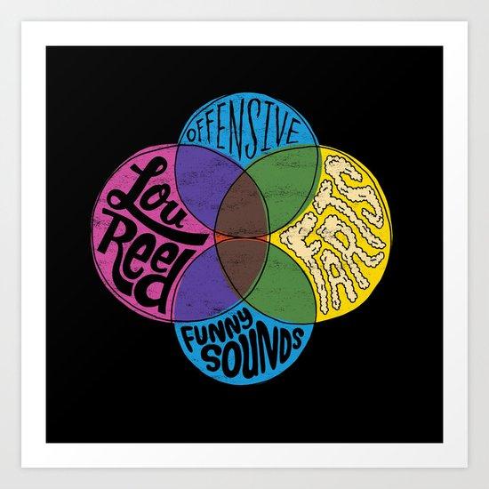 Lou Reed, Farts Art Print